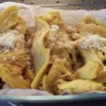 Crepes salate con mozzarella e funghi