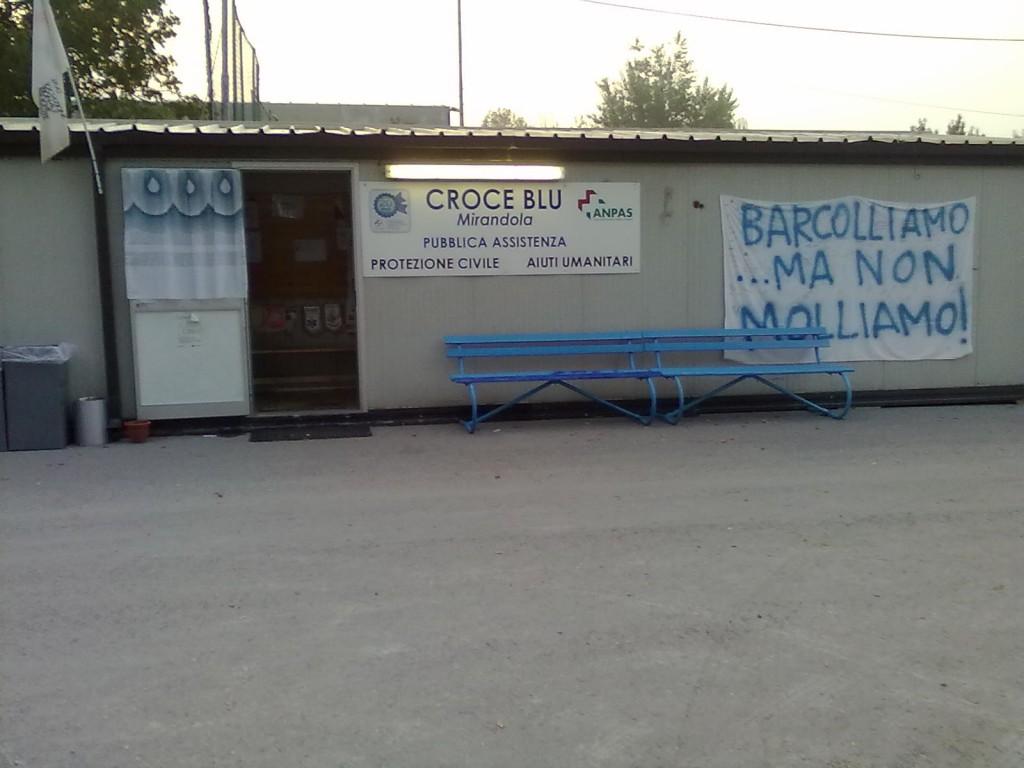 Il container della Croce Blu