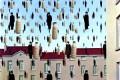 Il Latte nell'arte: in Golconda di Magritte