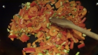Risotto alle verdure con salsa cantonese