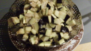 Seitan con melanzane in padella 1