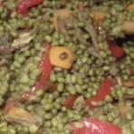 Piselli, funghi e peperoni al wok - copertina