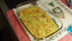 Frittata di porri e carote al forno