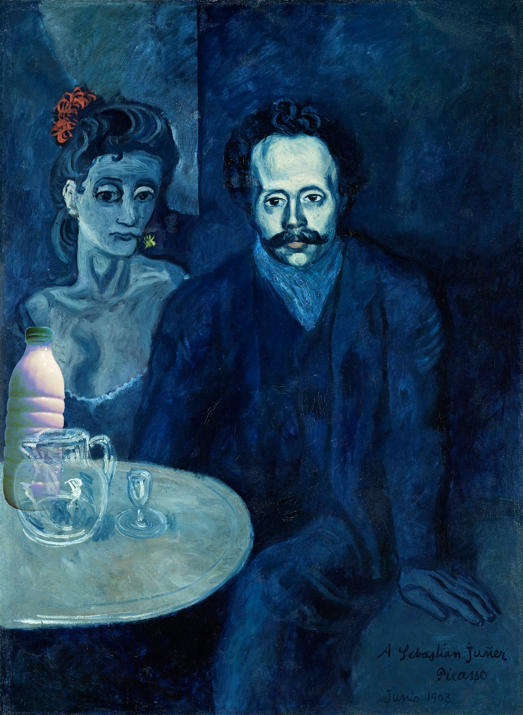 """Il Latte in """"Ritratto di Sebastià Junyer i Vidal"""" (1903) di Pablo Picasso"""