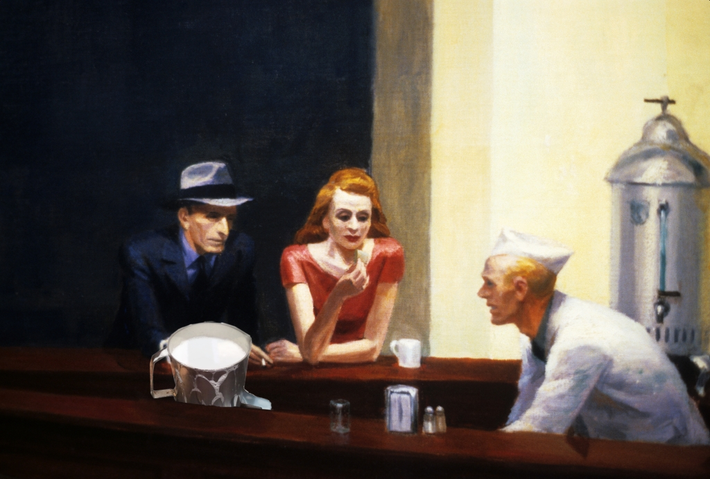 "Il Latte in ""Nighthawks at the diner"" di Edward Hopper (1942)"