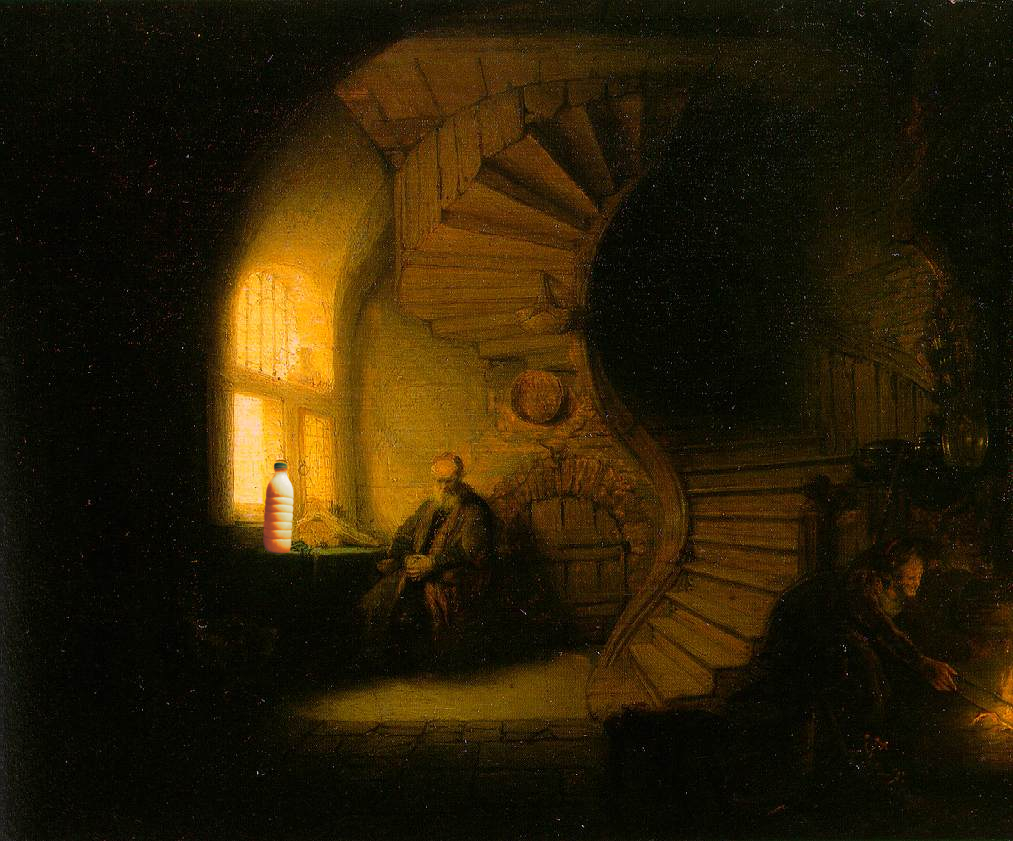 """Il Latte in """"Filosofo che medita"""" (1631) di Rembrandt"""