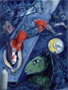 Il Latte nel circo blu di Chagall