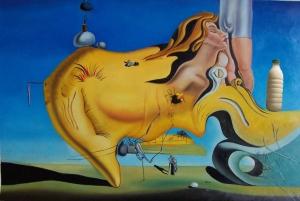 """Il Latte ne """"Il grande masturbatore"""" di Dalì (1929)."""