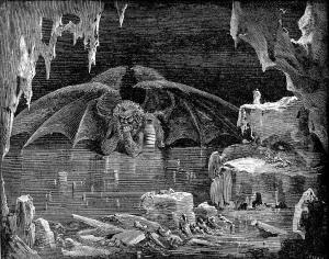 Il Latte nell'illustrazione di Gustave Doré: Lucifero Re dell'Inferno