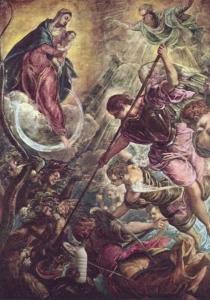 Il Latte nella battaglia dell'arcangelo Michele e Satana - Tintoretto