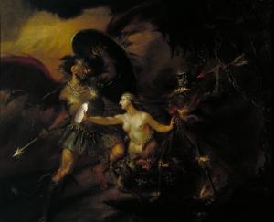 Il Latte, Satana, il peccato e la Morte (Una scena dal Paradise Lost  di Milton (William Hogarth)