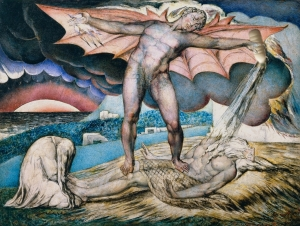 "Il Latte in ""Satan Smiting Job with Sore Boils"" di William Blake (1826)"