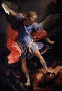 L'arcangelo Michele batte Satana col Latte. Guido Reni, 1635