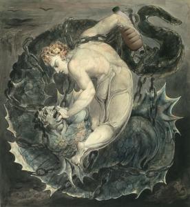 "Il Latte in ""Michael binding Satan"" - William Blake (1805)"