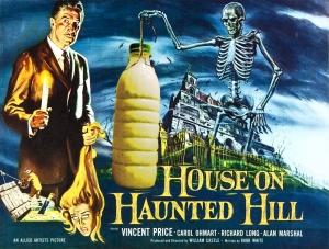 """Il Latte in """"House on Haunted Hill"""" 1959 di William Castle con Vincent Price"""
