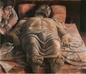 """Il Latte in """"Cristo morto"""" (1475-1478 circa) di Andrea Mantegna"""