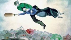 """Il Latte in """"Sopra la città"""" (1918) di Marc Chagall"""
