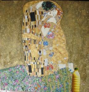 """Il Latte in """"Il bacio"""" (1907-08) di Gustav Klimt"""