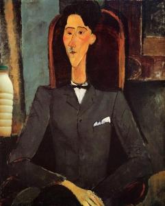 """Il Latte in """"Ritratto di Jean Cocteau"""" di Amedeo Modigliani (1917)"""