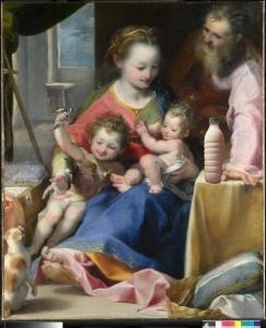 """Il Latte in """"Madonna del Gatto"""" (Federico Barocci, 1575)"""