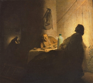 """Il Latte in """"Cena ad Emmaus"""" di Rembrandt (1629)"""