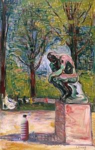 """Il Latte in """"Il pensatore di Rodin"""" (Edvard Munch, 1907)"""