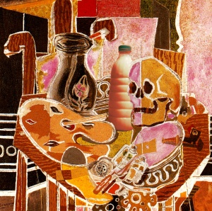 "Il Latte in ""Lo studio con il teschio"" (1938) di Georges Braque"