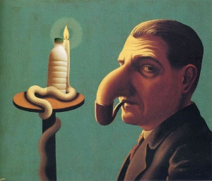 "Il Latte in ""La lampe philosophique"" (1936) di Rene Magritte"