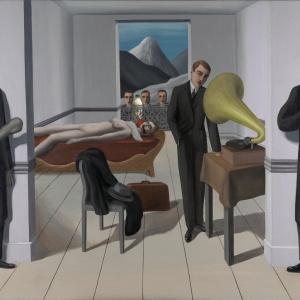 "Il Latte in ""The Menaced Assassin"" (1927) di Rene Magritte"