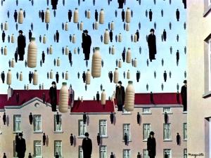 Il Latte e Golconda - Magritte